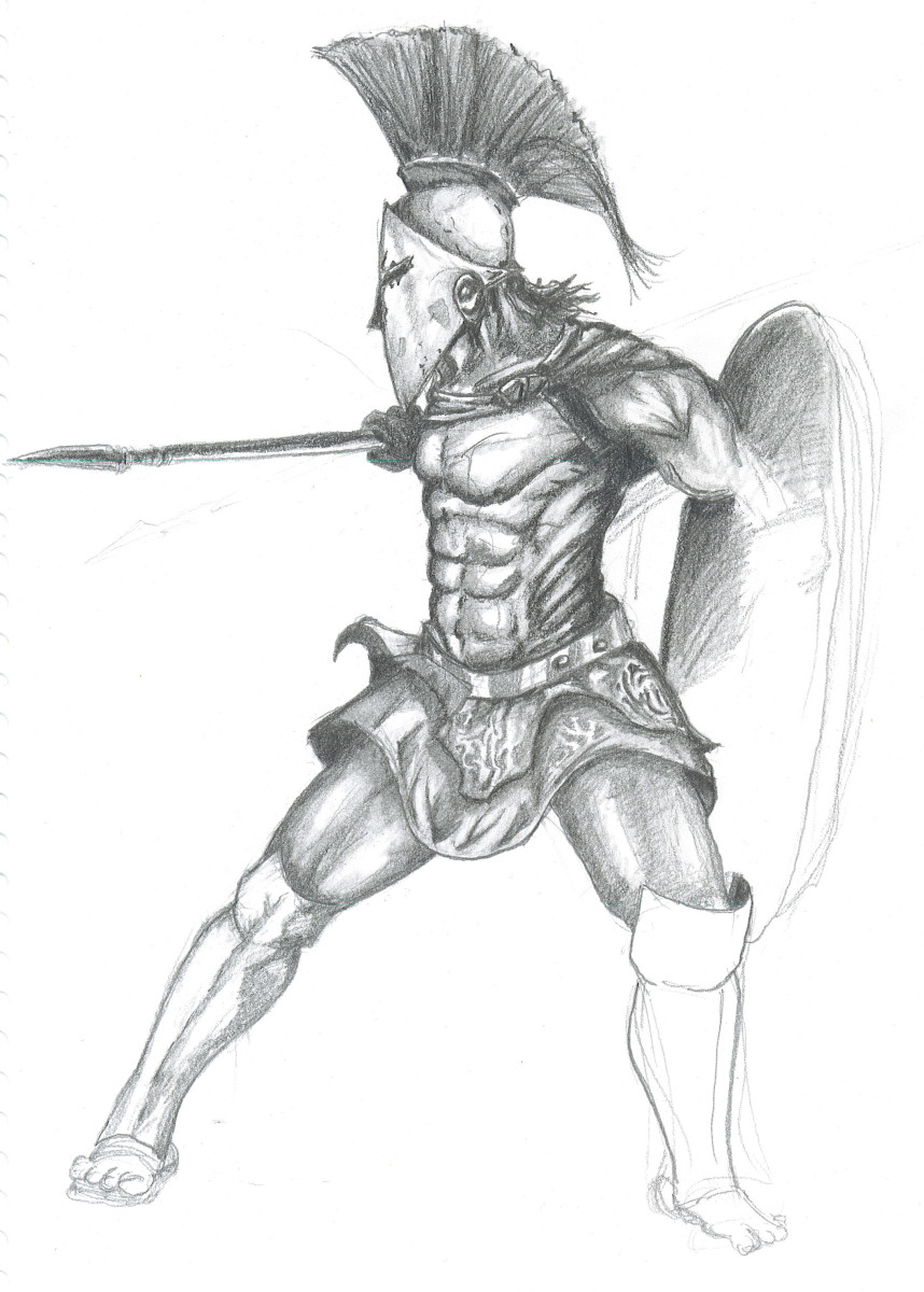The Spartan's relied on a servant class to back up their Warrior caste system.