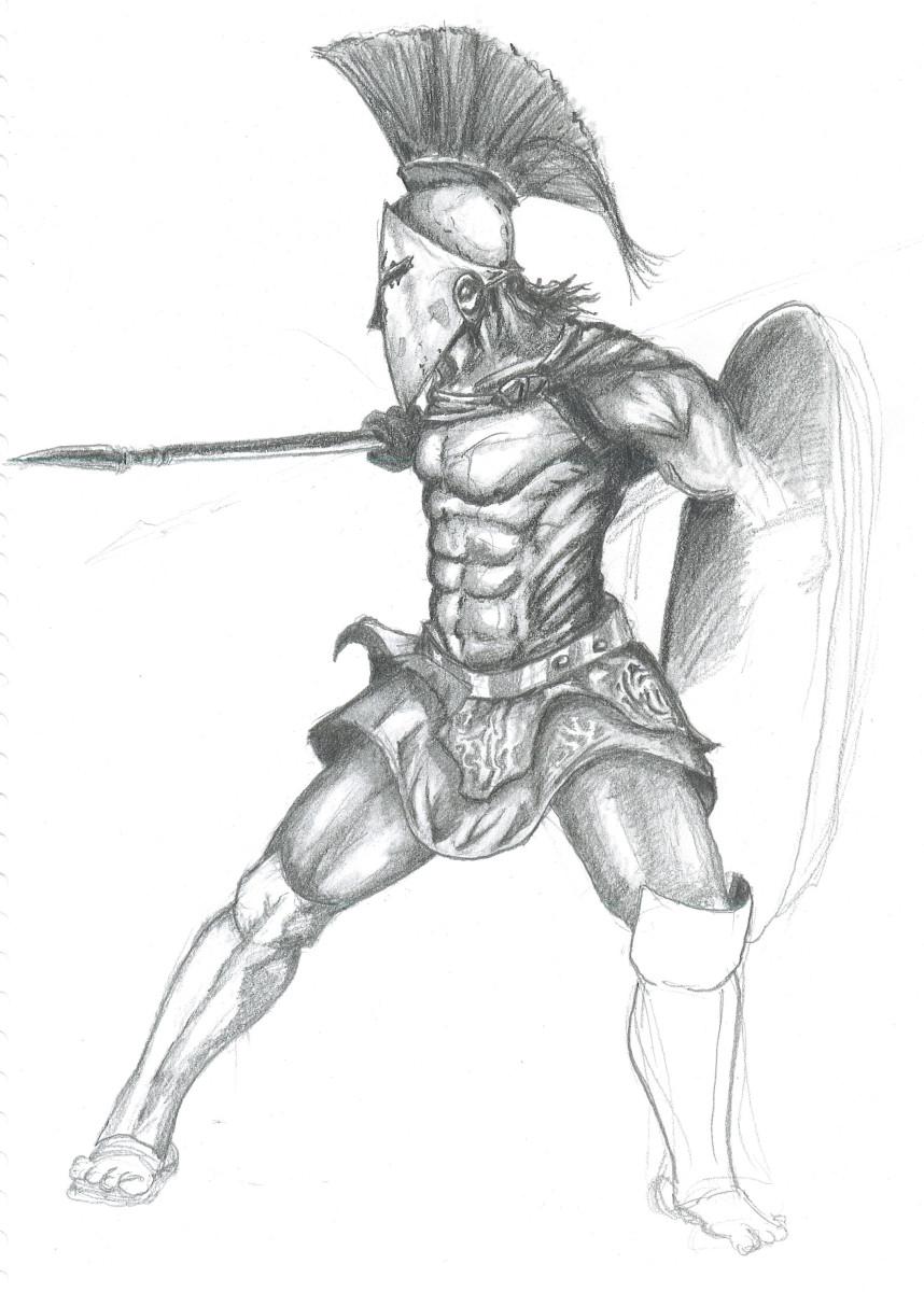 An illustration of a Spartan Warrior.