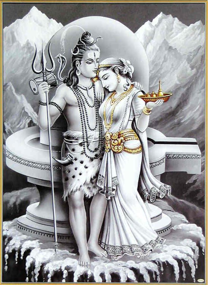 The ascetic and renunciate Shiva domesticated by Parvati