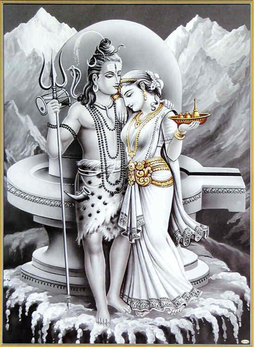 The ascetic and renunciate Shiva domesticated by Parvati