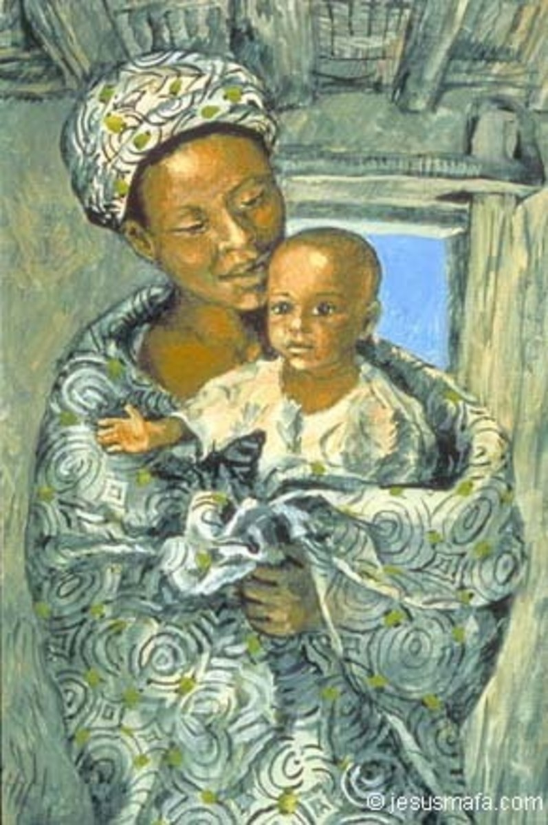 African Madona and Child
