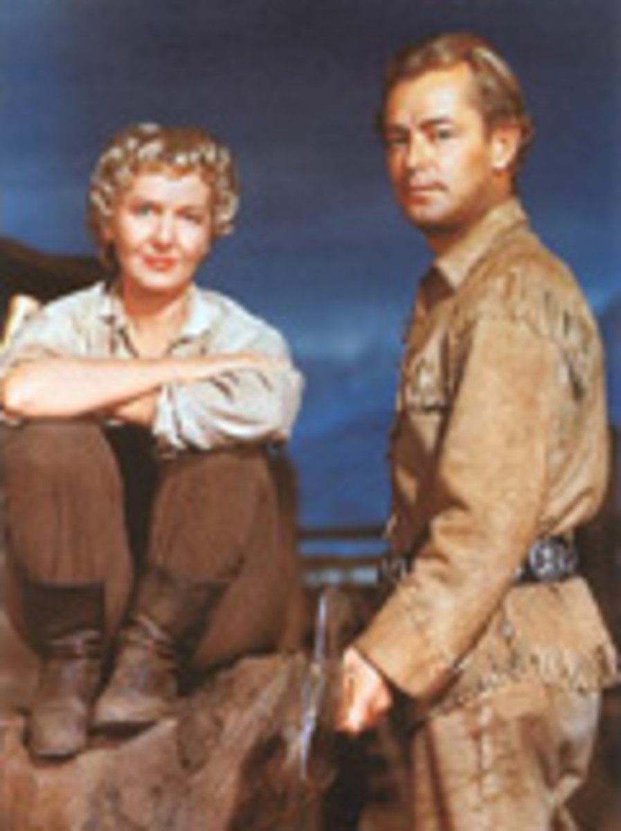 With Alan Ladd in Shane