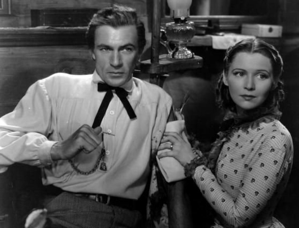 With Gary Cooper in The Plainsman