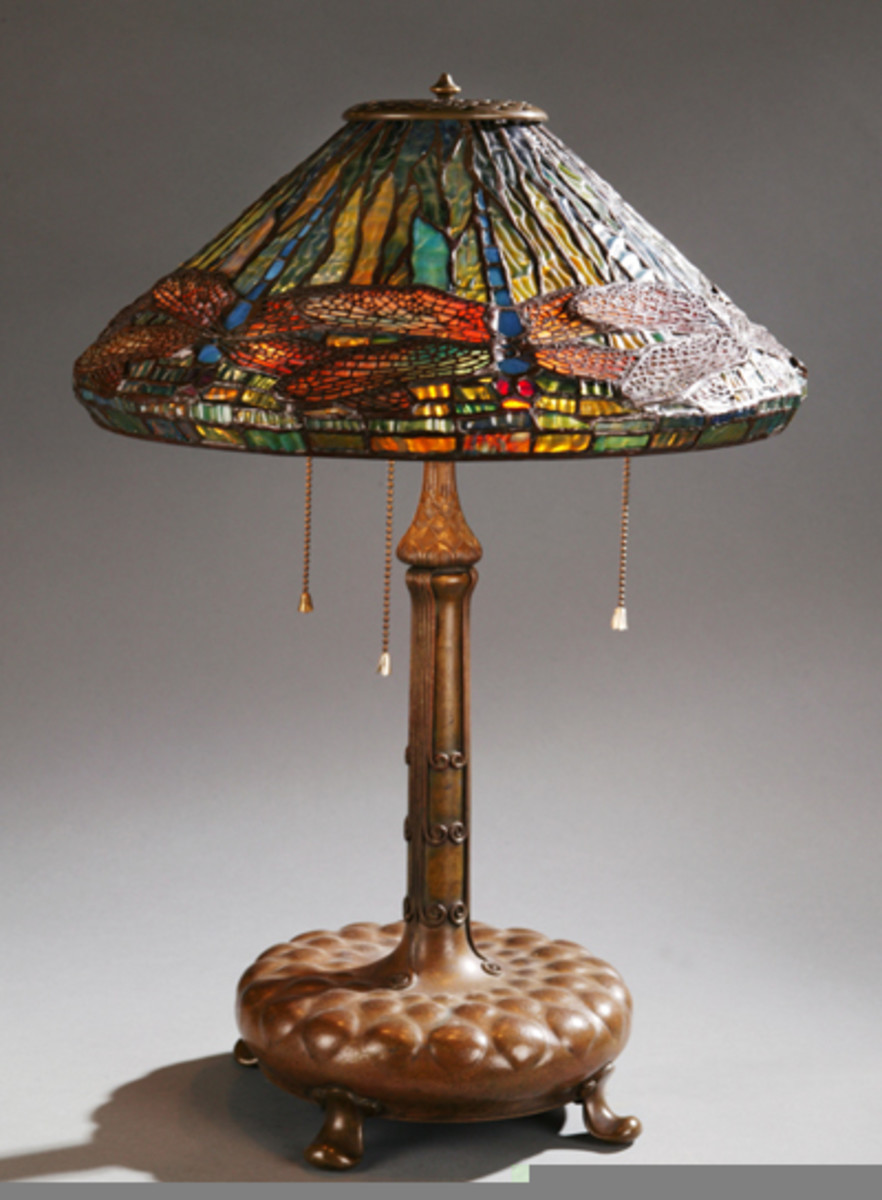 Antique Tiffany Lamp Dragon Fly Design Wiki