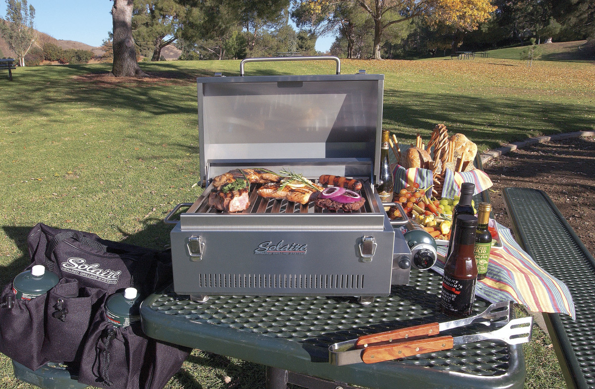 A small infrared grill will out-cook a large barbeque, use less gas and taste better.