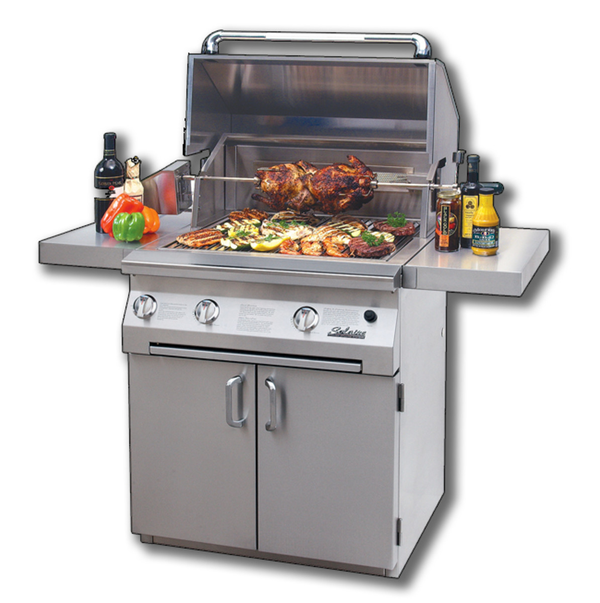 This 30 inch Infrared grill by Solaire Grilling Systems can be converted to a hybrid that is part convection and part infrared.