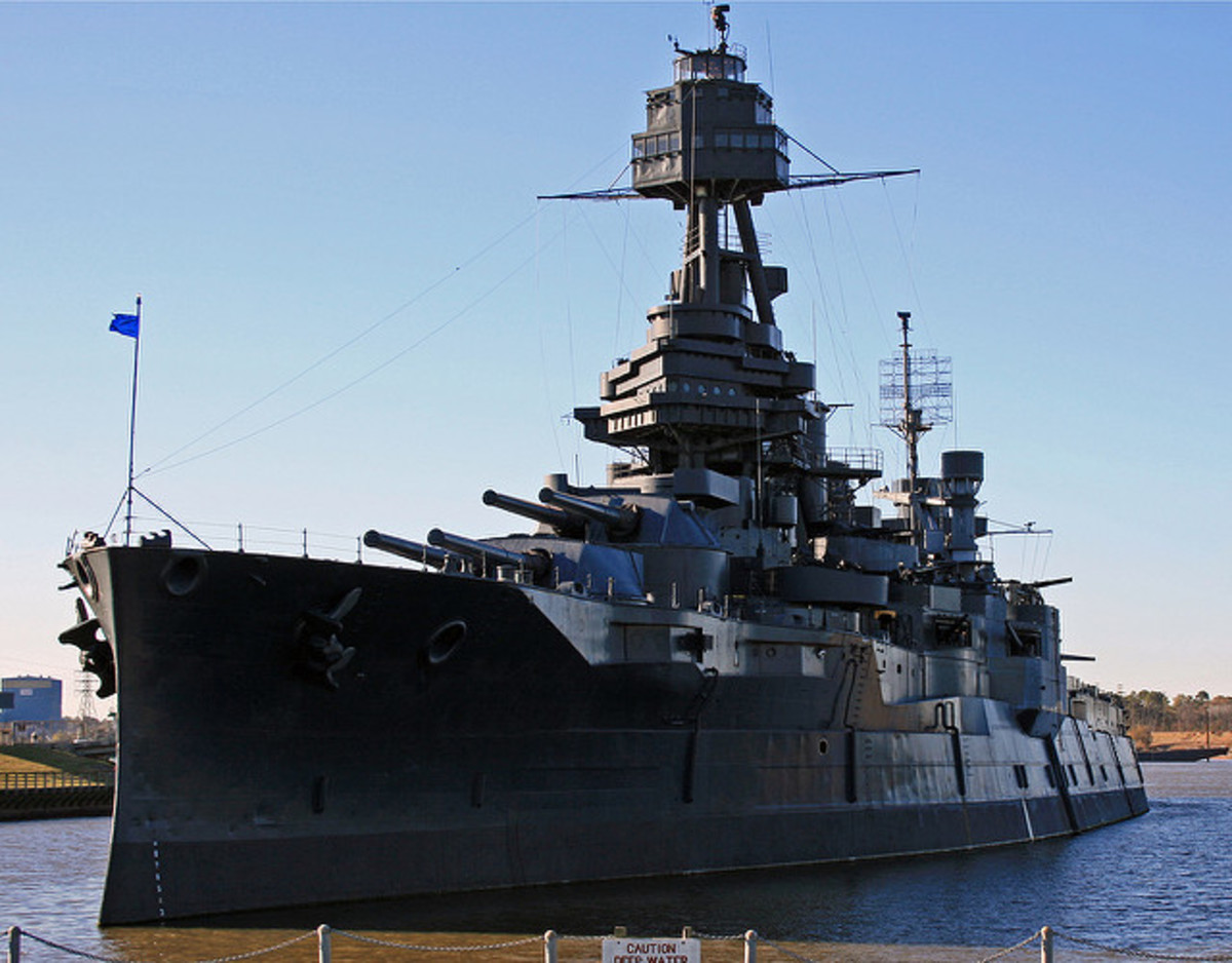 USS Texas port side