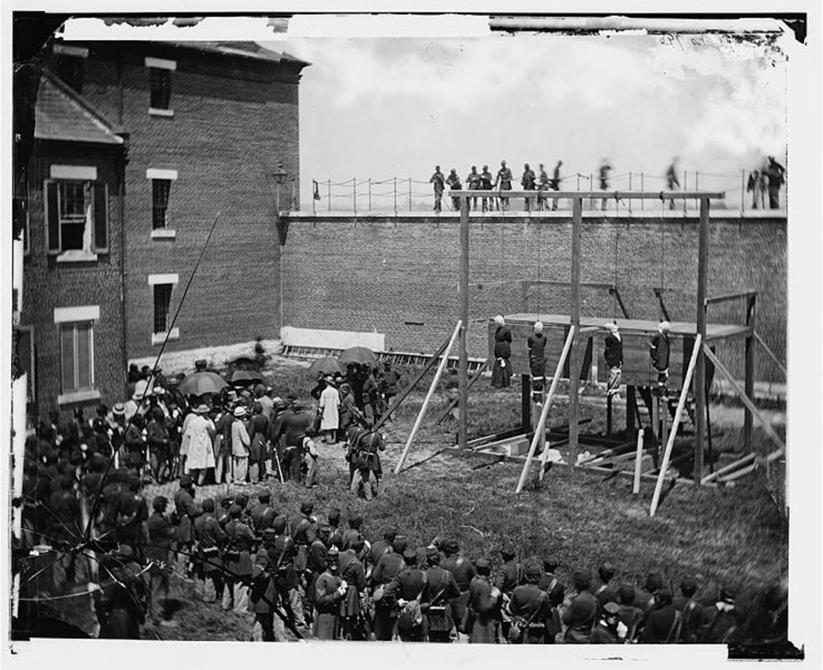The Men And Women Who Were Hung For Their Part In The Lincoln Assassination.