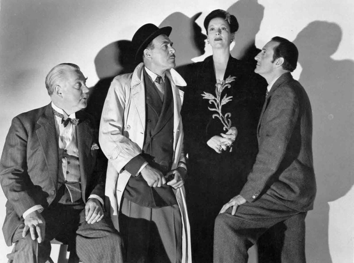 Nigel Bruce, Dennis Hoey, Gale Sondergaard, Basil Rathbone in The Spider Woman