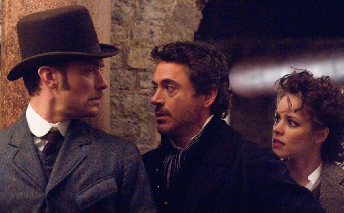 Jude Law, Robert Downey Jr, Rachel McAdams in Sherlock Holmes (2009)