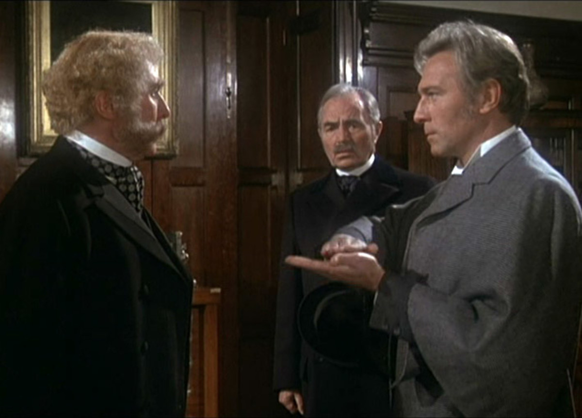 Anthony Quayle, James Mason and Christopher Plummer in Murder by Decree (1979)