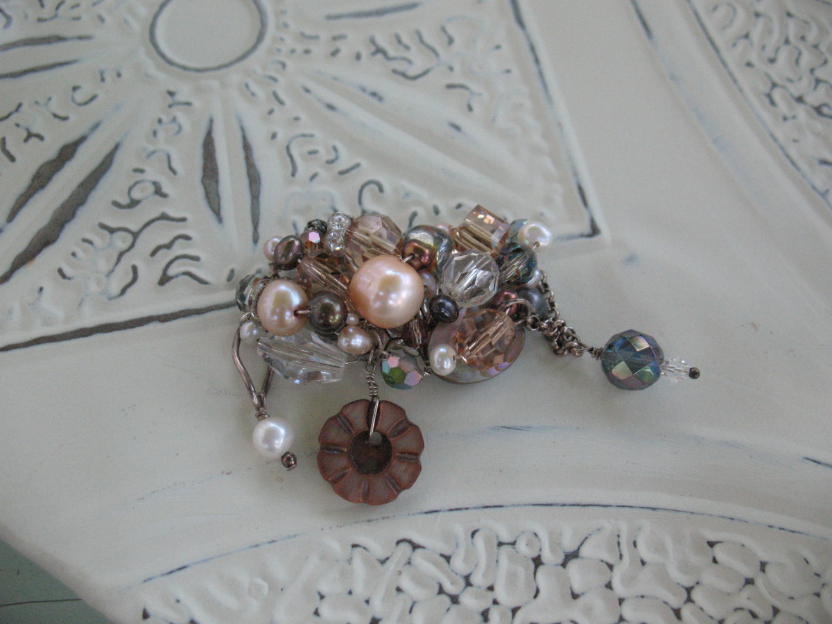 How to Make a Vintage Antique Button Ring DIY Jewelry Making HubPages