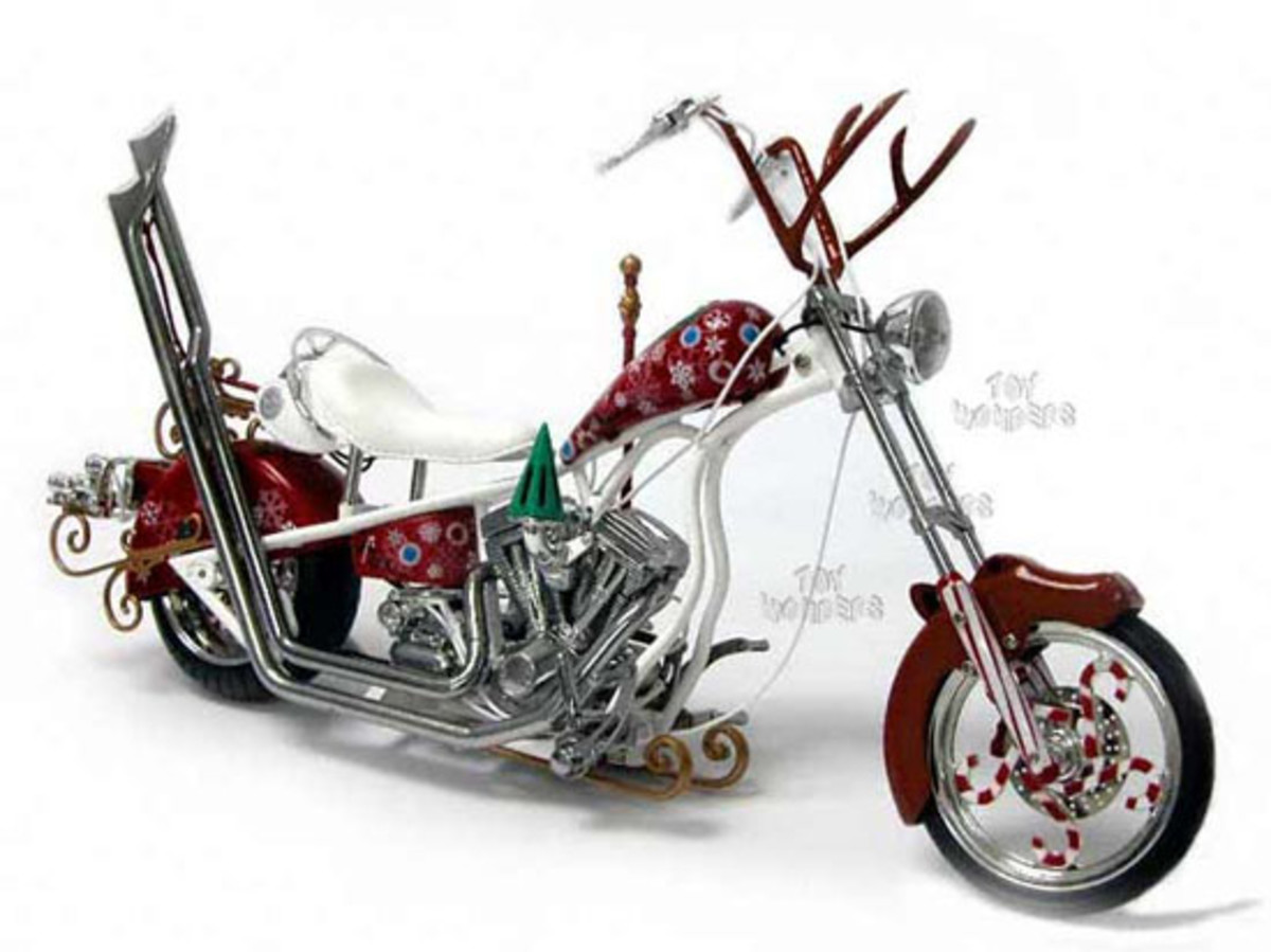 motocycle christmas design and theme