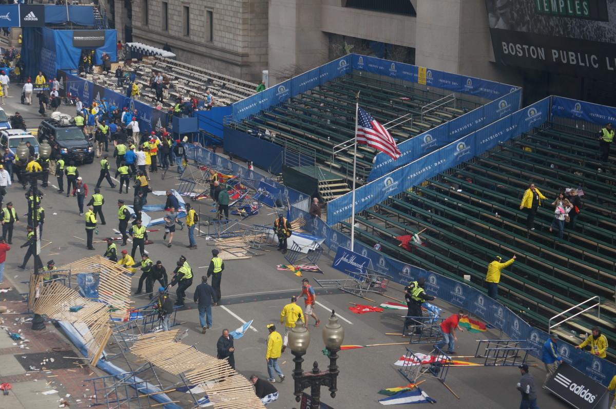 The sad aftermath at the Boston Marathon