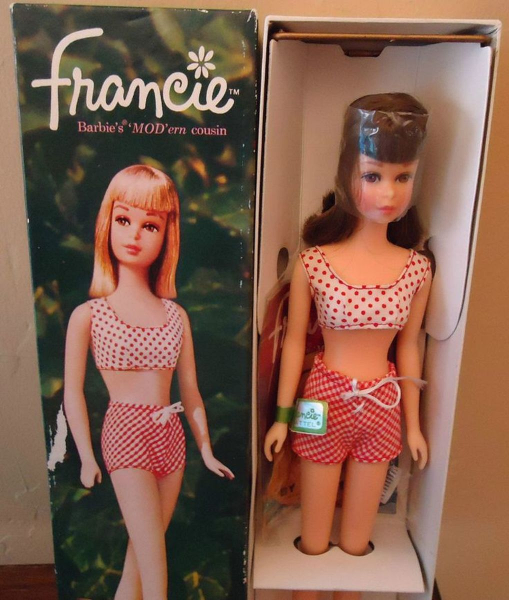 Francie Doll in her original Swimsuit