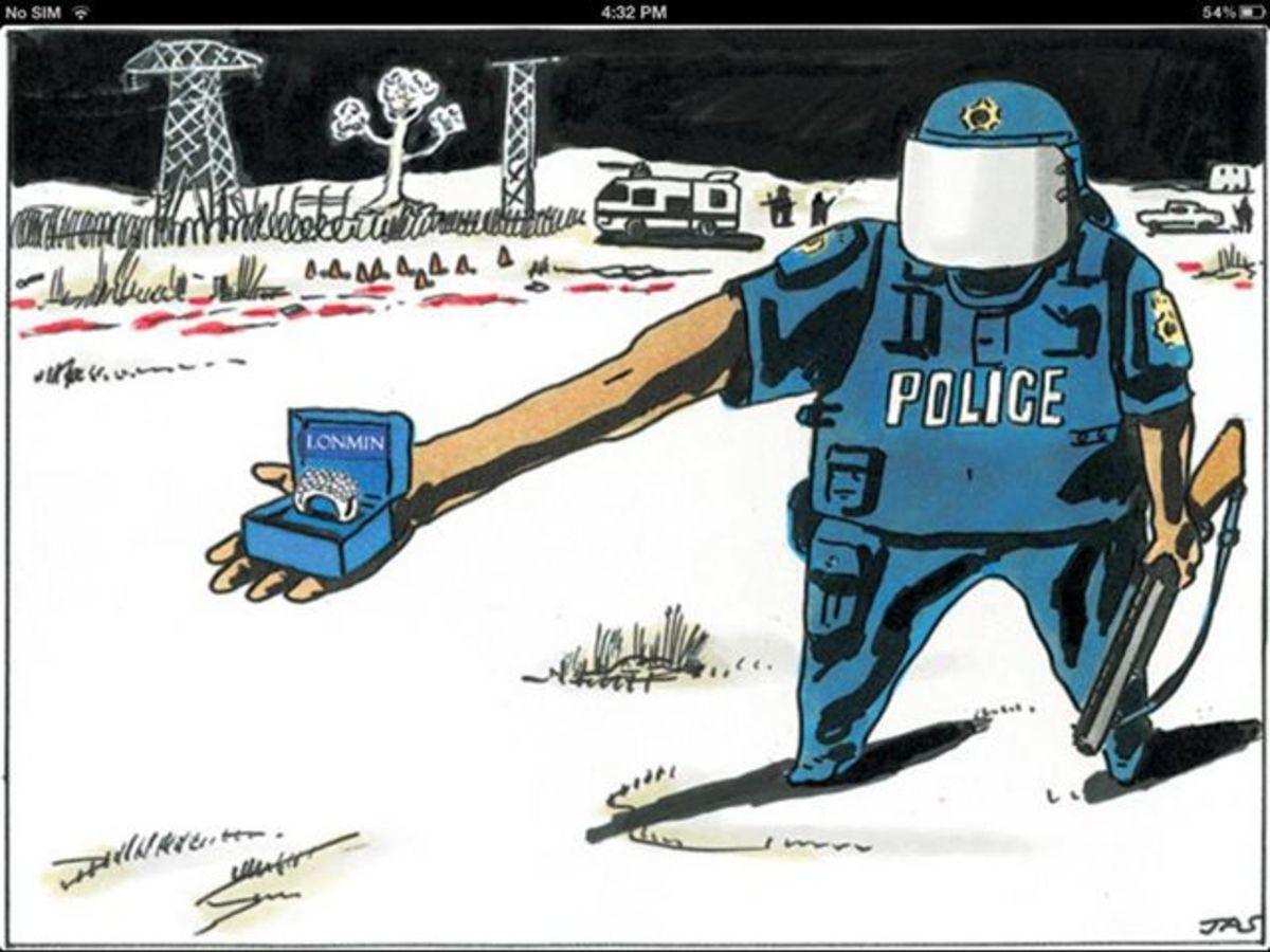 Police and the Mines they work with, are responsible for the death and misery of the Mine workers and their families
