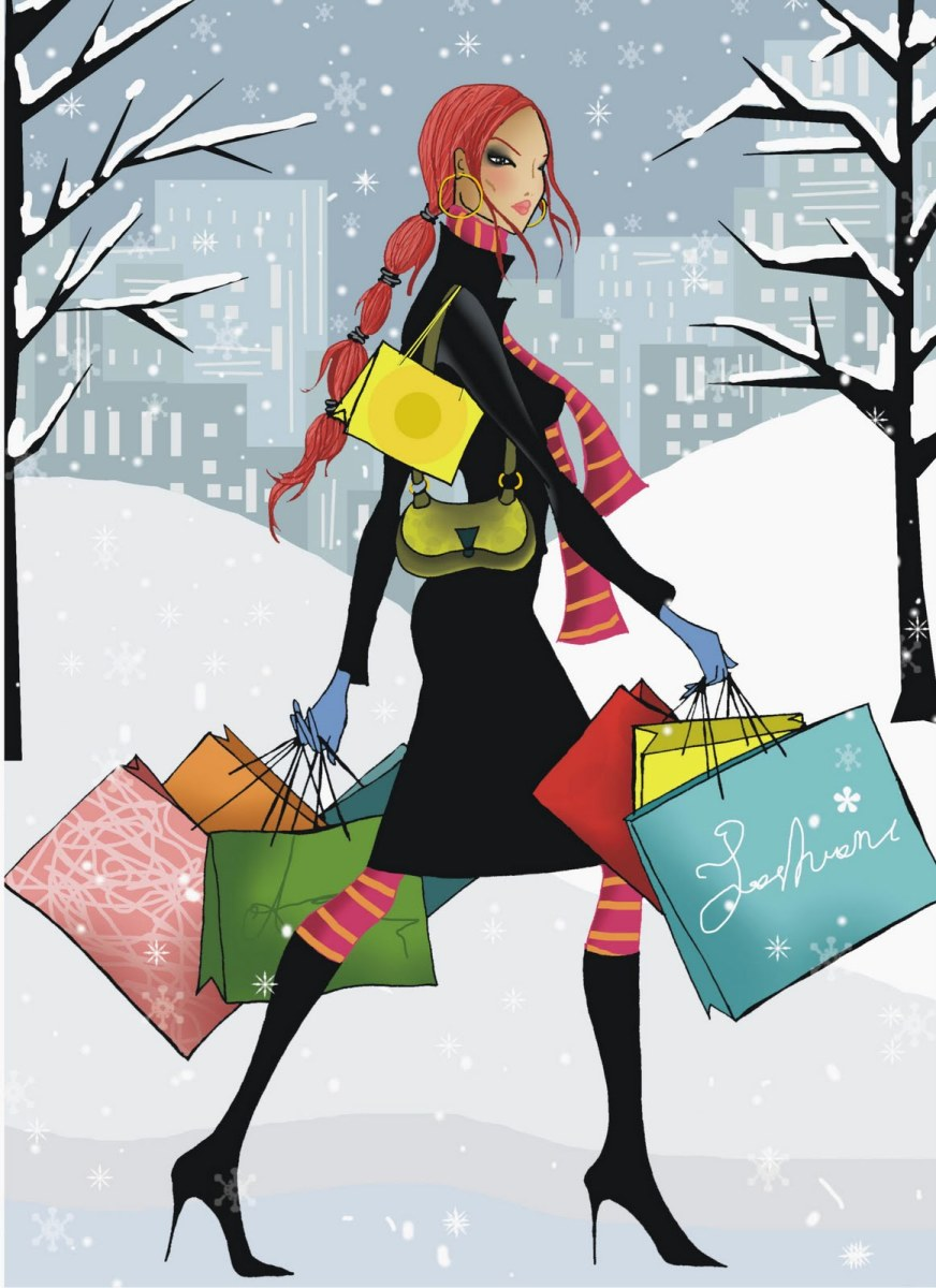 The hustle and bustle of shopping for the ones you love :)