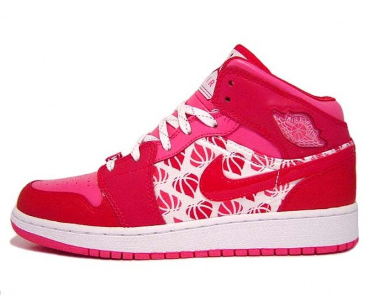 Shoes can be a girl's best friend! Air Jordans in a feminine pink and red!!!