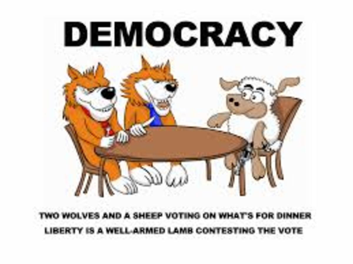 Shamocracy/Democracy Of the Wolves negotiating with the Sheep