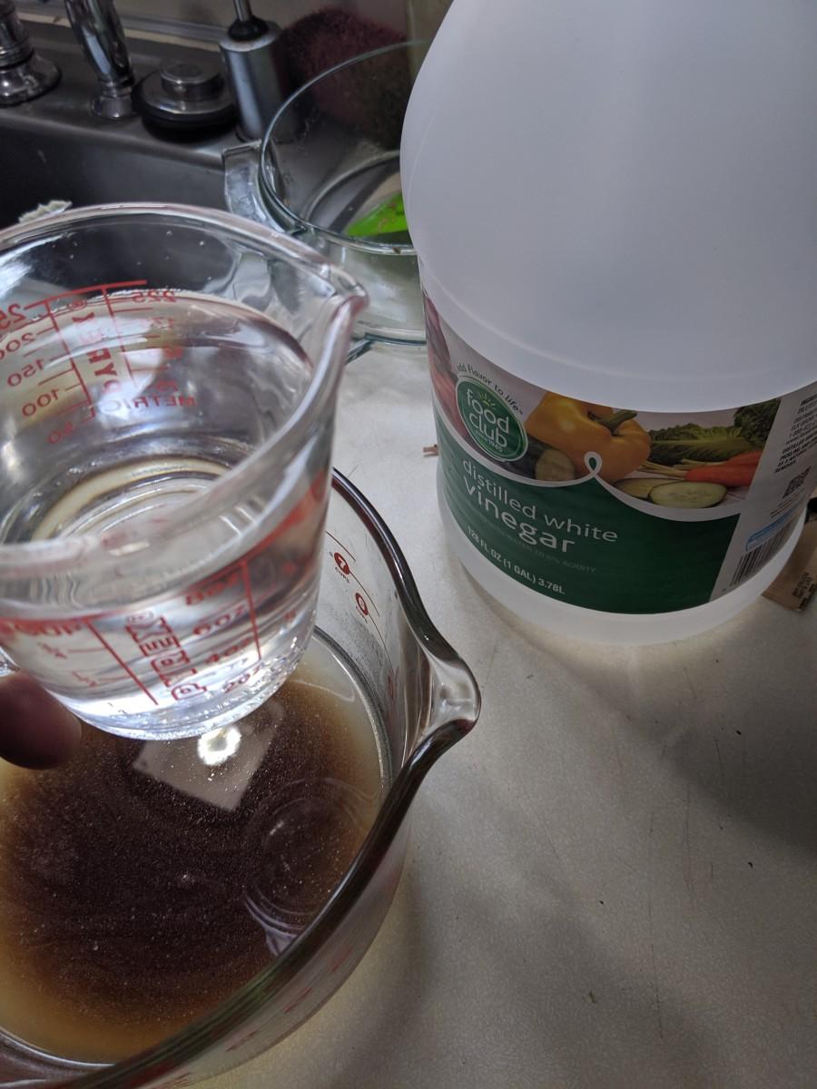 Add 1 cup of vinegar