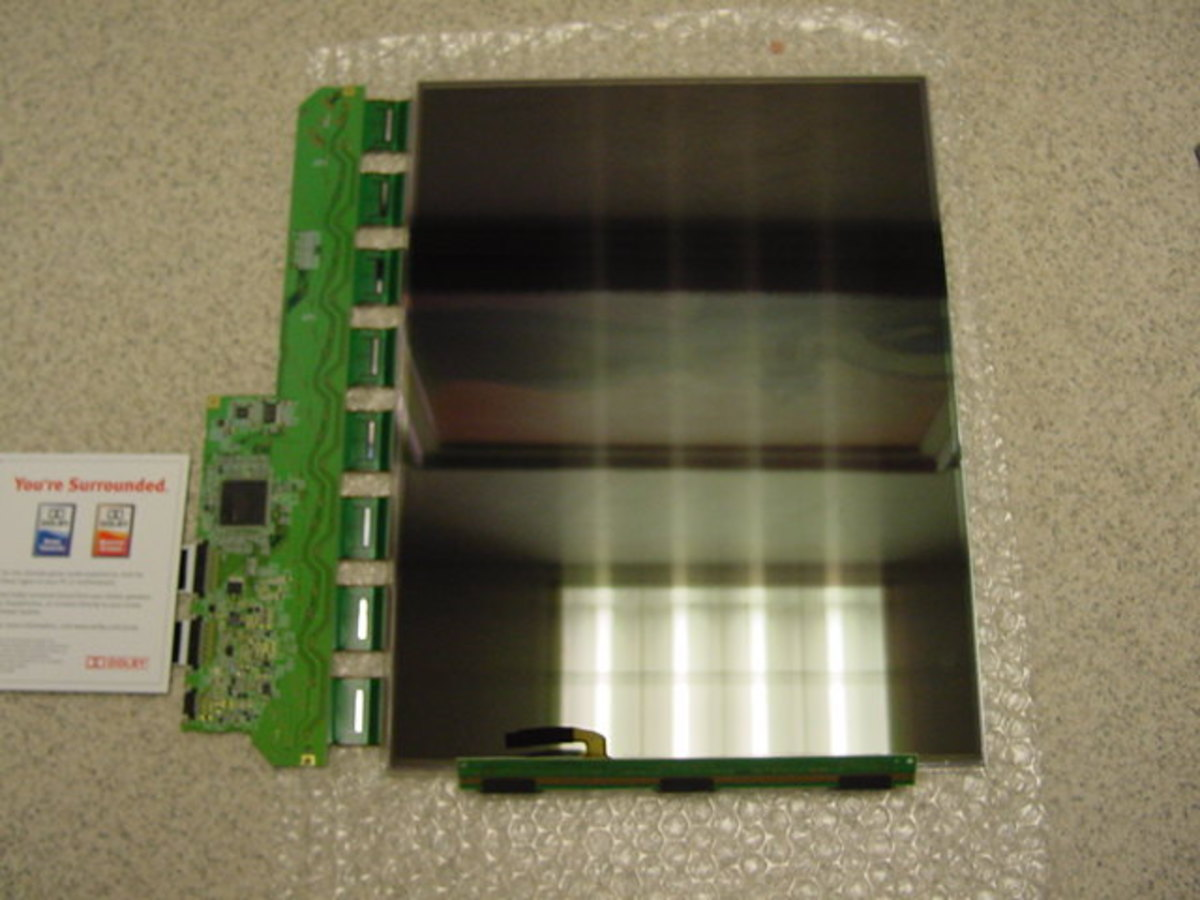 LCD removed from monitor