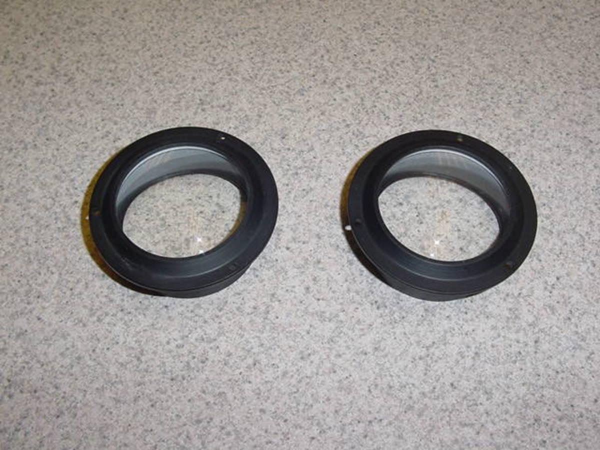 triplet and fresnel lenses