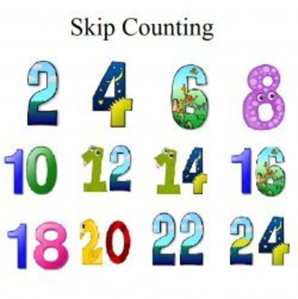 Skip Count, Skip Count, Count by Two's