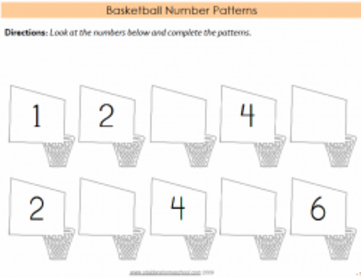 Basketball Number Count Activity