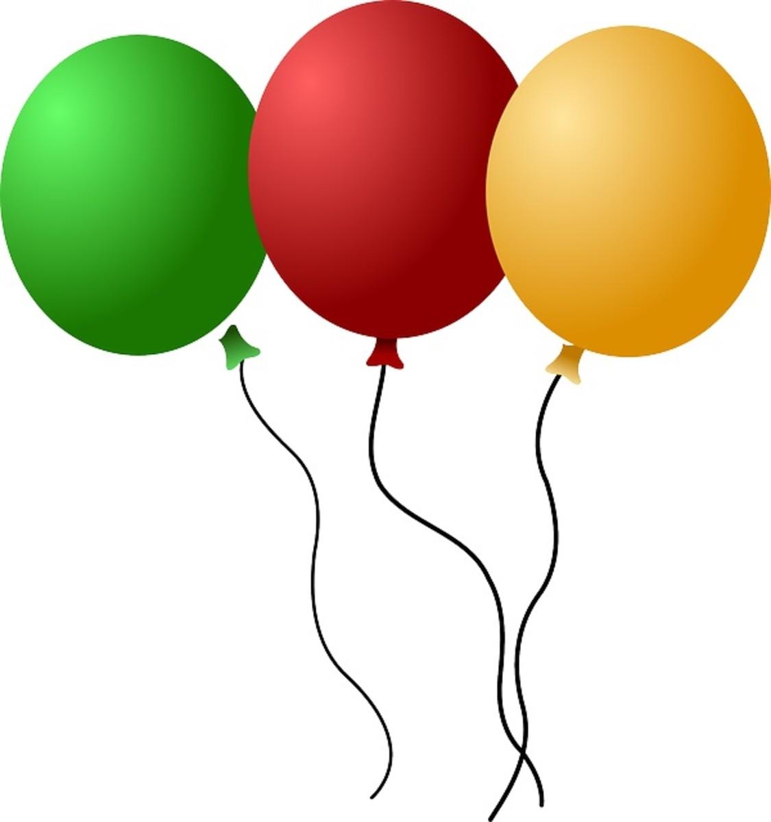 Set of Three Balloons