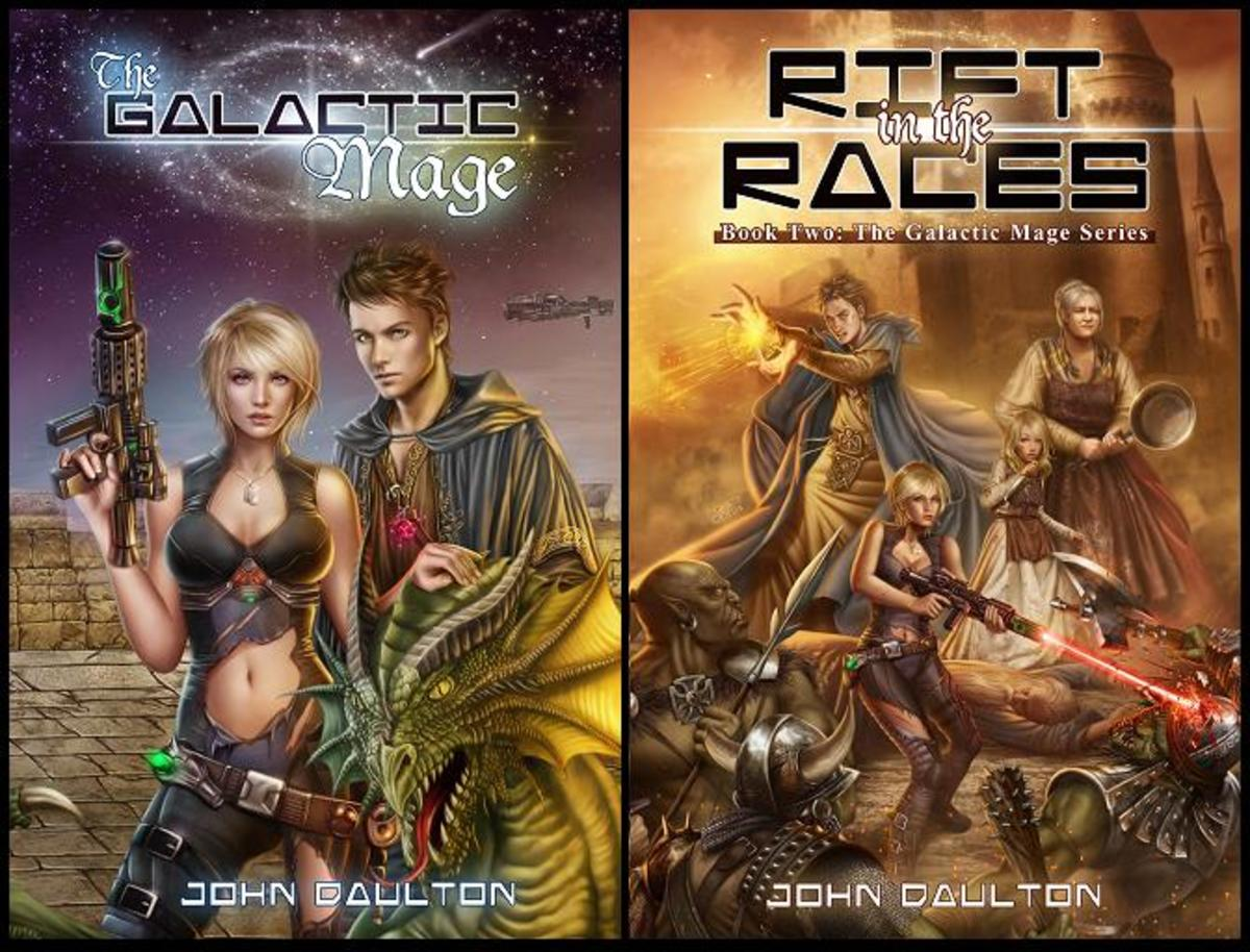 Boos 1 & 2 of my Amazon best selling sci-fi and fantasy series. Check them out on my site or at www.facebook.com/GalacticMage