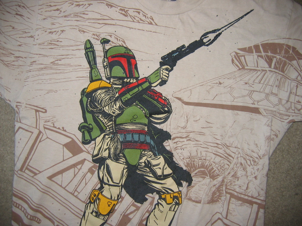 This is the T-shirt (and yes, that's the character called Boba Fett)
