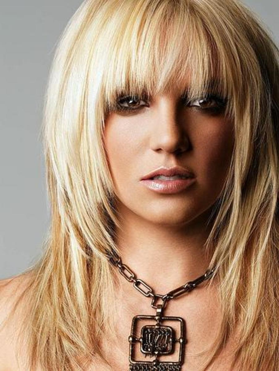 britney spears medium layered hairstyle