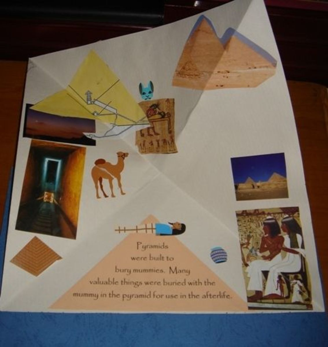 Pyramid mini-booklet opened all