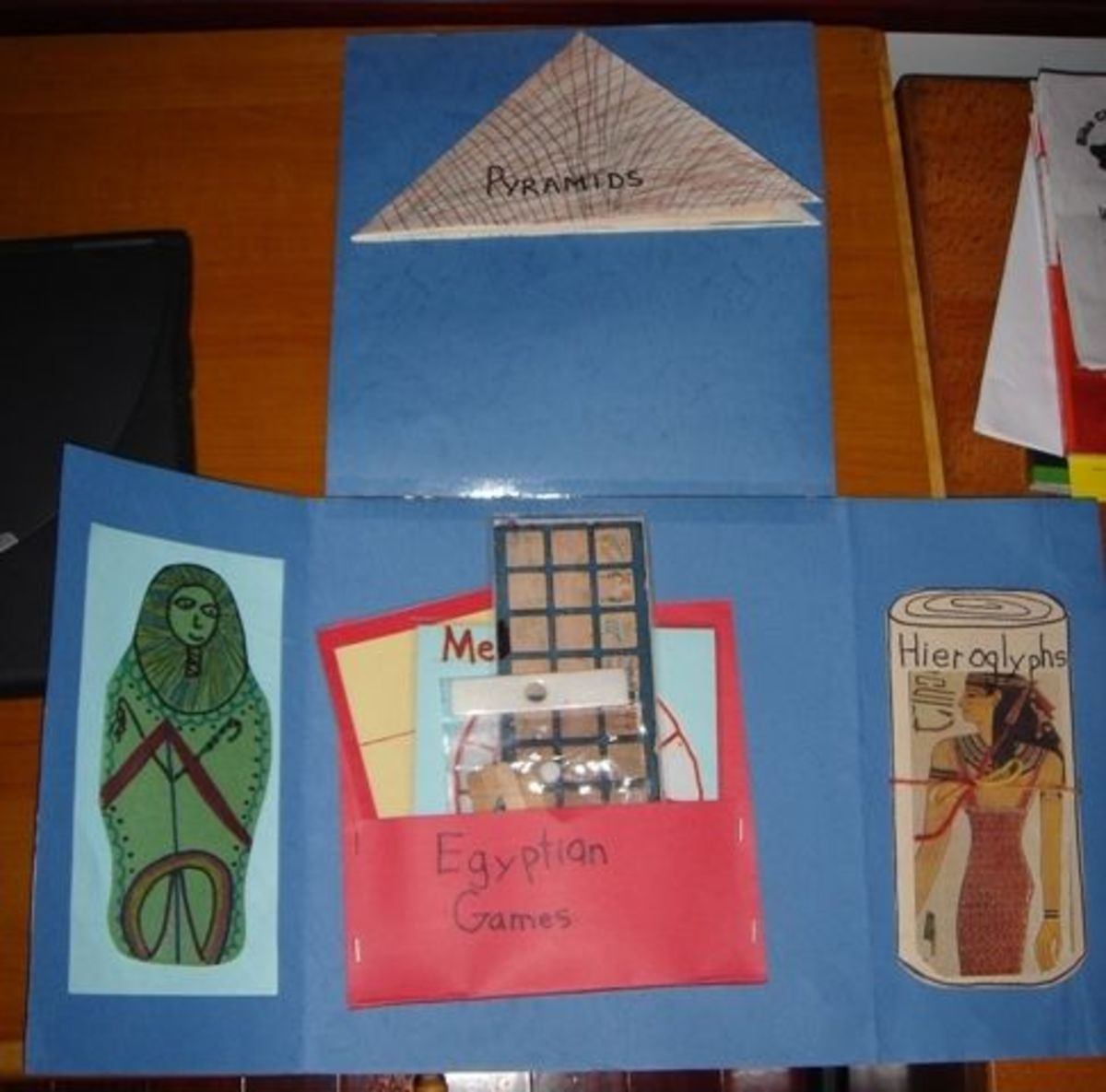 Ancient Egypt lapbook flaps