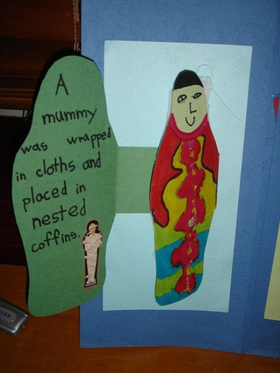 Mummy mini-booklet