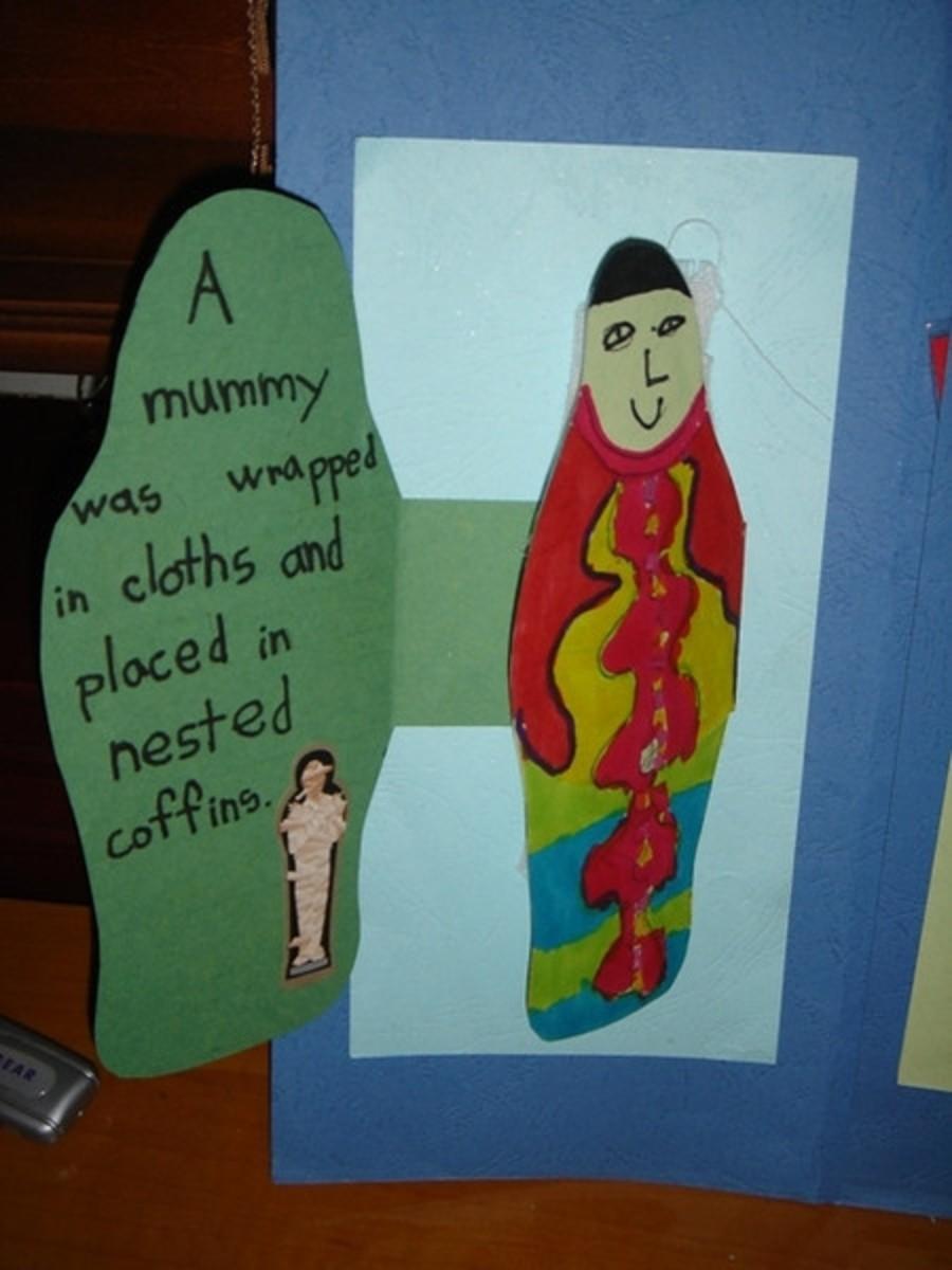 Mummy mini-booklet