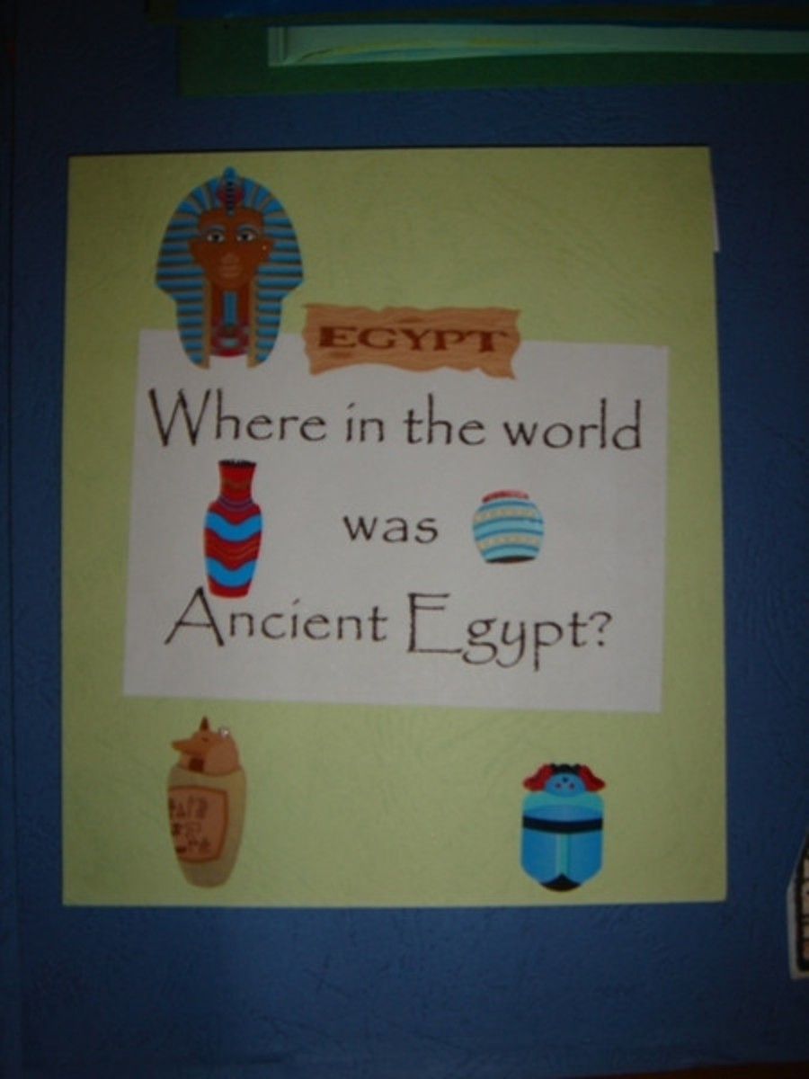 Ancient Egypt map mini booklet