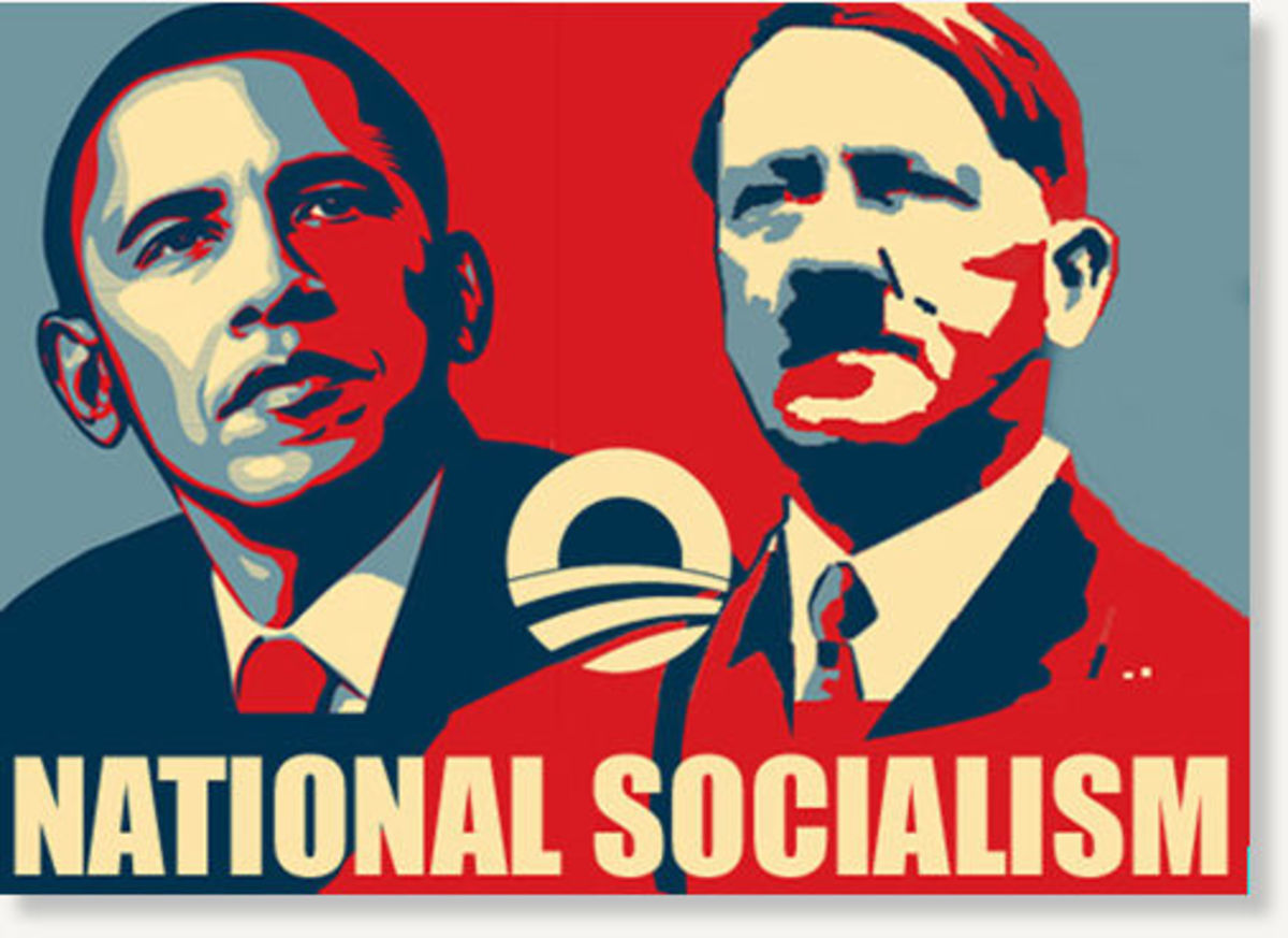 The Tea Part's spin, ideology and harangue of Obama equates his policies to Socialism, and Obama is likened to Hitler