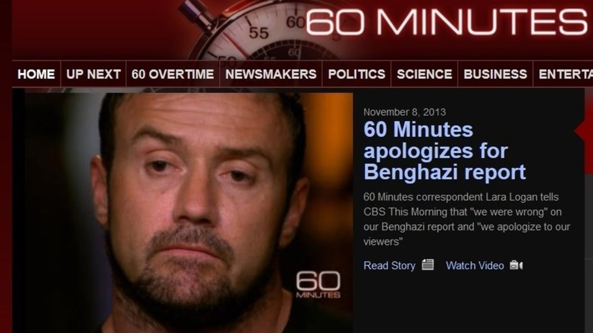 """The truth is that we made a mistake,"" CBS News correspondent Lara Logan said Friday as she apologized for an Oct. 27 report on 60 Minutes in which a State Department security contractor claimed he had been on the scene of 9/11/'12. Although Davies t"