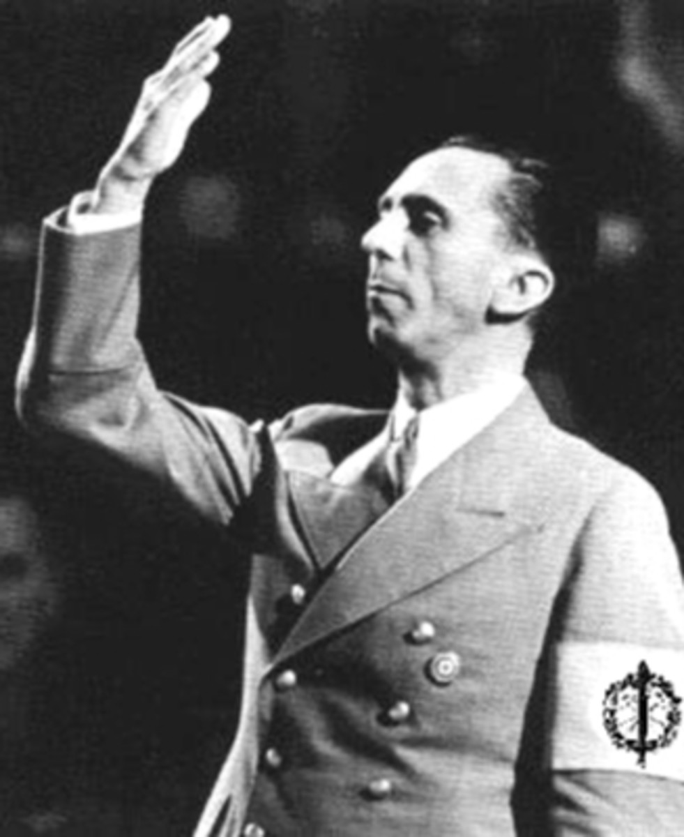 Goebbels, Minister of Propaganda under Hitler:  He hid the truth in Plain view