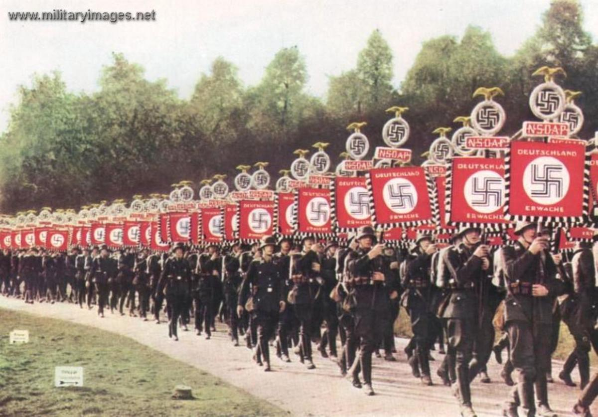 Nature deployed and exploited Symbols and their power to impress and rally the German Volk