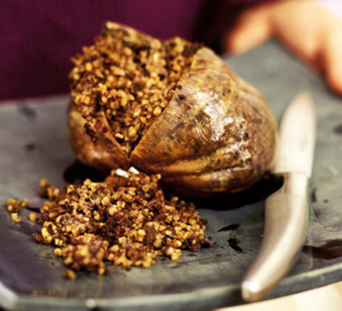 Cooked Haggis with Oatmeal