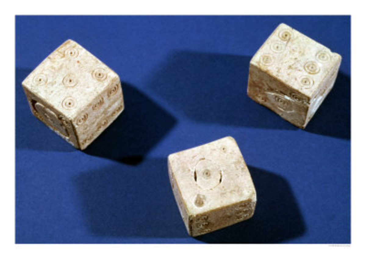 Three Dice, from the Acropolis at Osteria