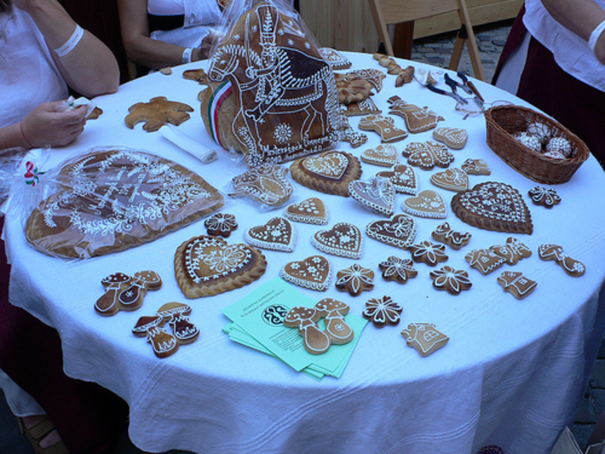 From the furniture to the plates to the cookies themselves...Hungarians like it decorated.