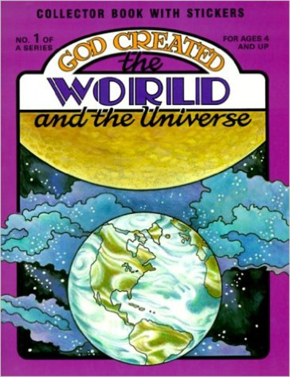 God Created the World and the Universe [With Stickers] by Earl Snellenberger - Image is from amazon.com