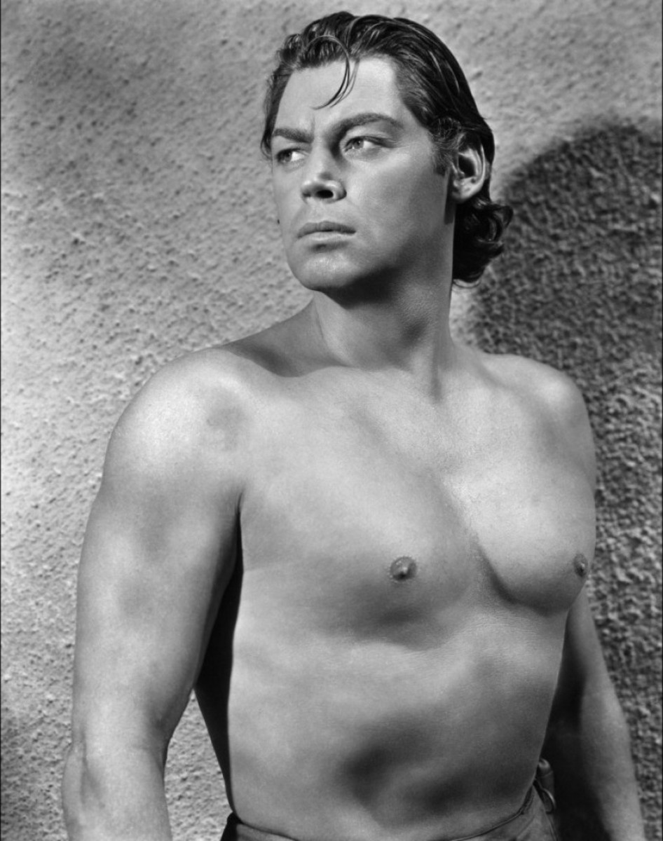 Johnny Weissmuller in his legendary role as Tarzan the Ape Man