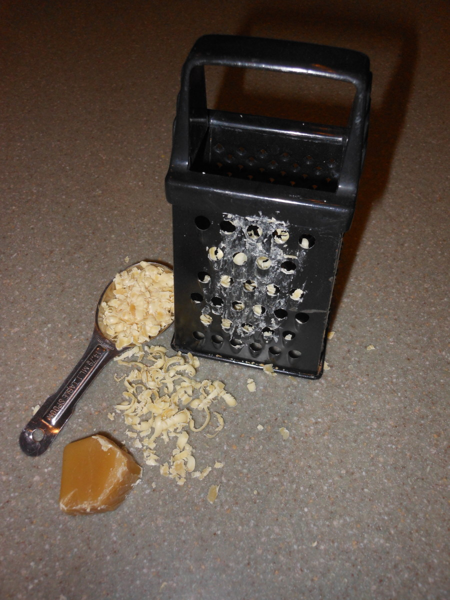 grated beeswax