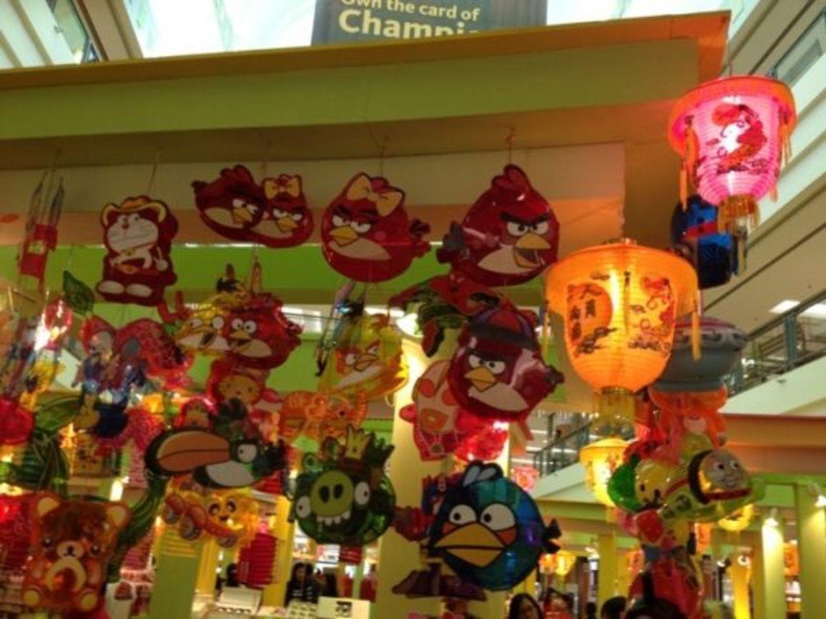 Angry Bird Lanterns