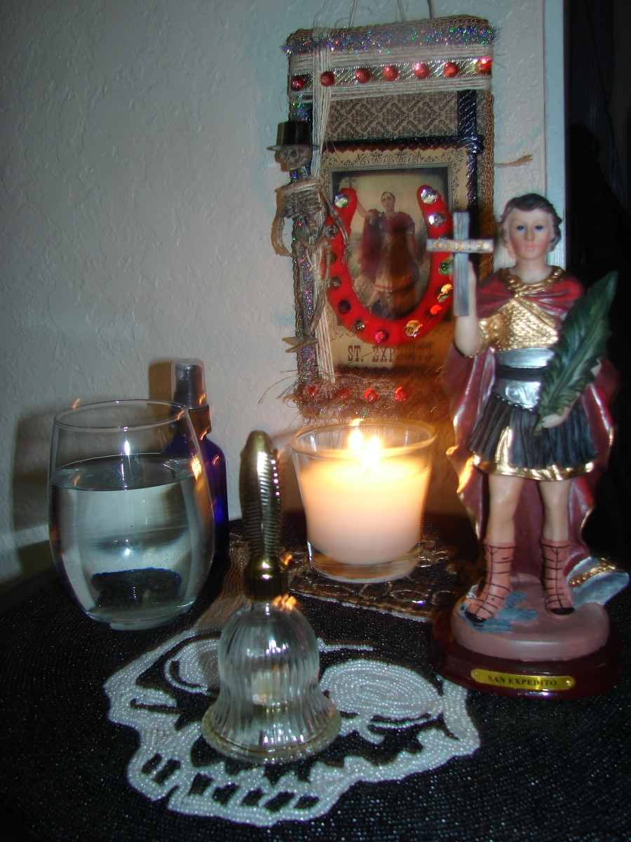 St. Expedite's Altar, photo copyright 2014 Denise Alvarado, all rights reserved worldwide.