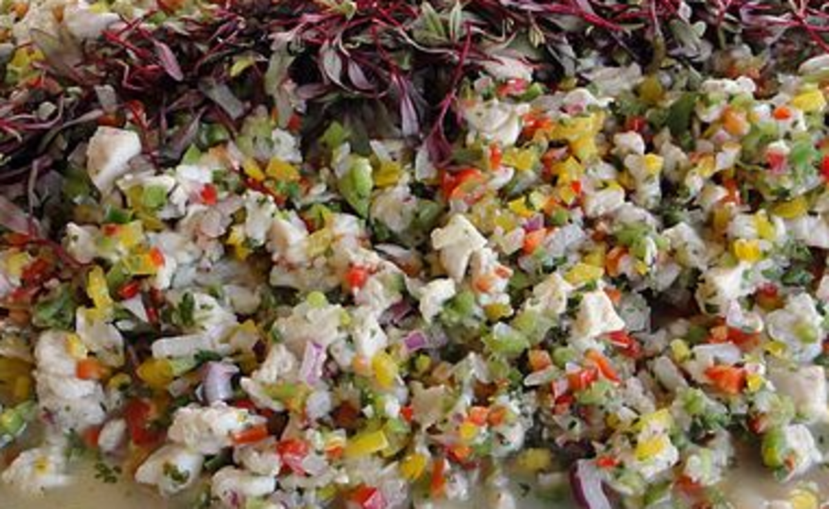 There are various recipes and various types of seafood that are included in ceviches in Costa Rica.  There is an abundant variety of seafood from the Pacific Ocean.